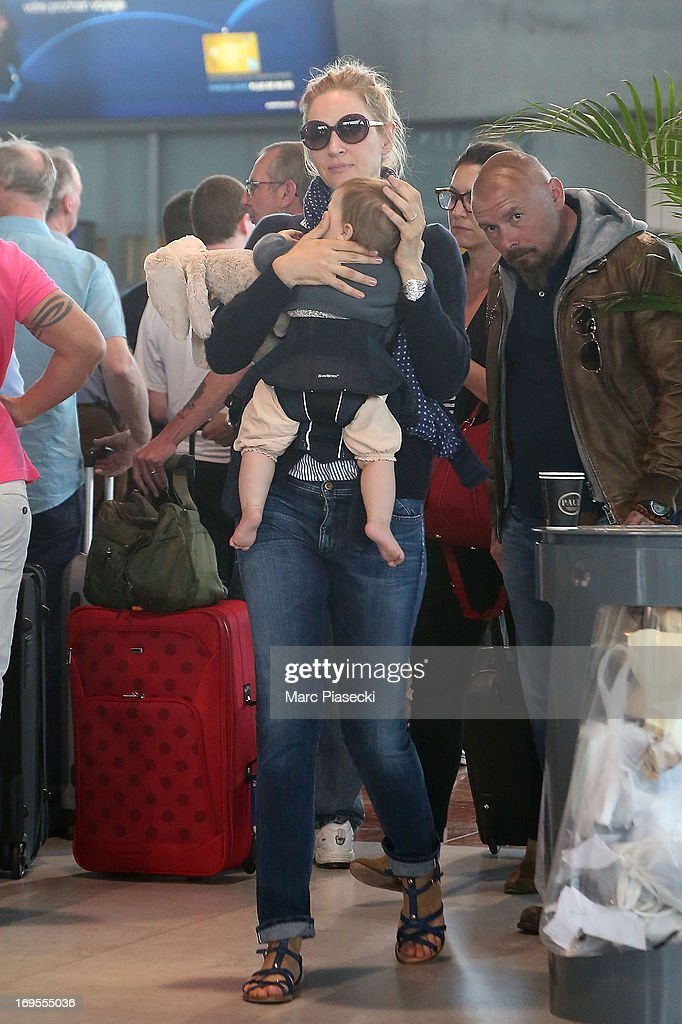 Actress Uma Thurman is sighted at Nice airport after the 66th Annual Cannes Film Festival on May 27, 2013 in Nice, France.