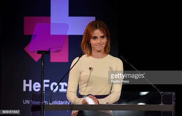 Actress UN Special Ambassador Emma Watson addresses anniversary gatheringUN ambassador Emma Watson to mark the second anniversary of HeForShe at MOMA...
