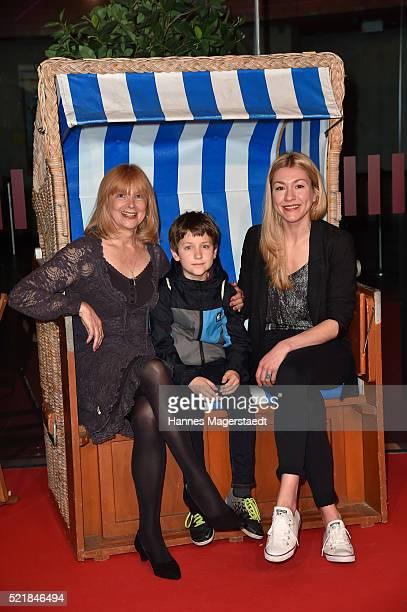 Actress Ursela Moon Juri Winkler and Genija Rykova during the premiere for the film 'Rico Oskar und der Diebstahlstein' at Mathaeser Filmpalast on...