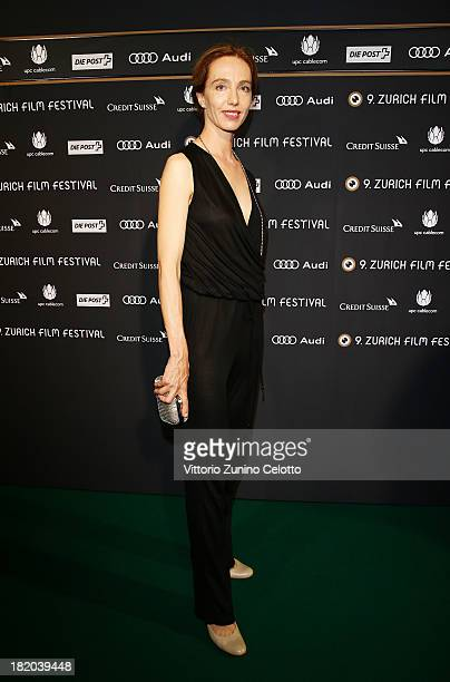 Actress Ursina Lardi attends 'Traumland' green carpet during the 9th Zurich Film Festival on September 27 2013 in Zurich Switzerland