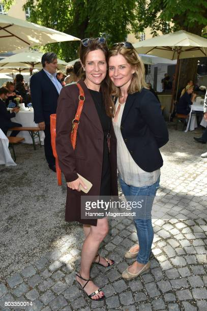 Actress Ursula Buschhorn and Sharon von Wietersheim attend the FFF reception during the Munich Film Festival 2017 at Praterinsel on June 29 2017 in...