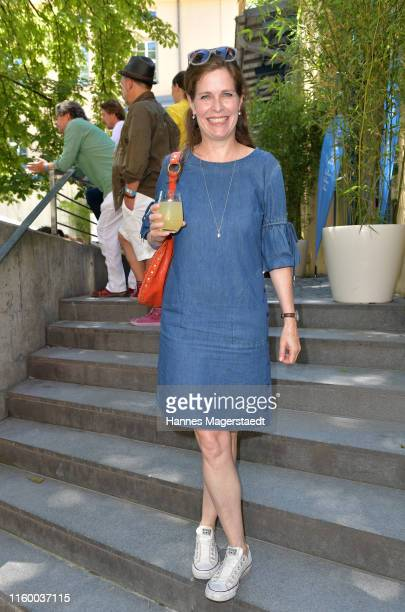 Actress Ursula Buschhorn attends the Film Fernseh Fonds Bayern 2019 reception during the Munich Film Festival at Praterinsel on July 04 2019 in...