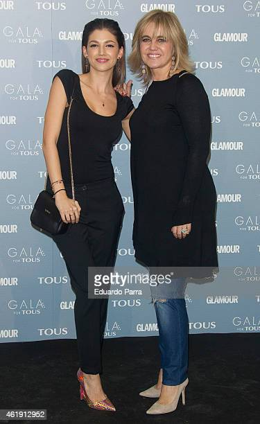 Actress Ursula Corbero and Rosa Tous attend 'Gala for Tous' collection party photocall at Pons Foundation on January 21, 2015 in Madrid, Spain.
