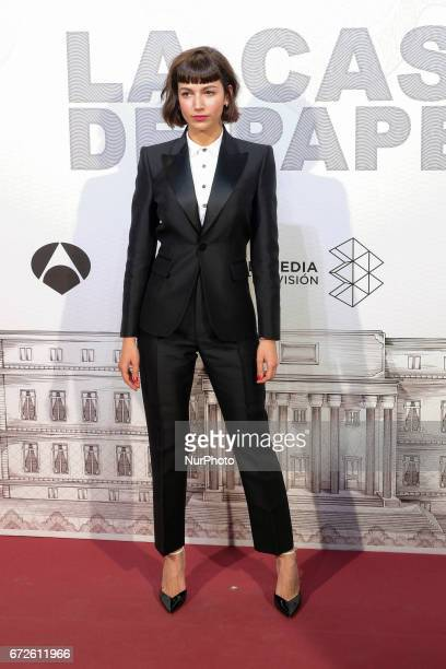 Actress Ursula Corbero attends the premiere of the TV series quotLa casa de papelquot at the Capitol on April 212017 in Madrid Spain