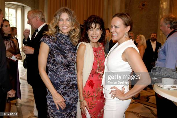 Actress Ursula Karven and actress Anja Kruse and actress Sonja Kirchberger attend 'Opera For All' at the state opera at Bebelplace on August 29 2009...