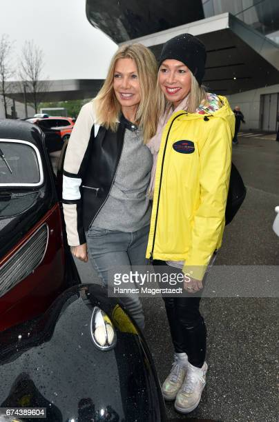Actress Ursula Karven and Kirsten Kiki Viebrock before the ArabellaClassics Route 2017 starts at BMW World on April 28, 2017 in Munich, Germany.