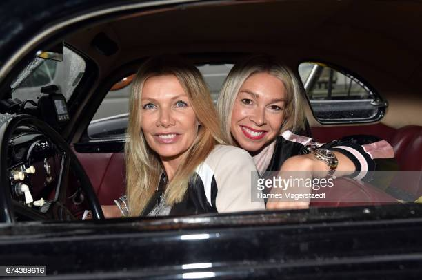 Actress Ursula Karven and Kirsten Kiki Viebrock before the ArabellaClassics Route 2017 starts at BMW World on April 28 2017 in Munich Germany