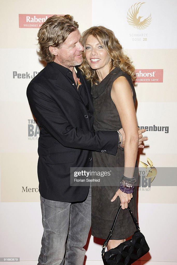 Actress Ursula Karven and Mats Wahlstroem arrives for the 'Tribute To Bambi 2009' at the station on October 9, 2009 in Berlin, Germany.