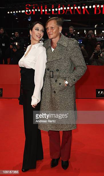Actress Ursula Strauss and Austrian actor Georg Friedrich attend the 'Mein Bester Feind' Premiere during day seven of the 61st Berlin International...