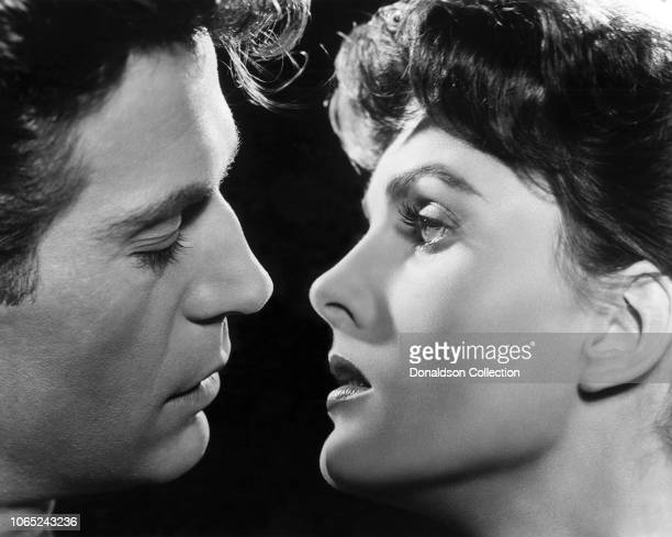 Actress Ursula Thiess and George Nader in a scene from the movie Monsoon