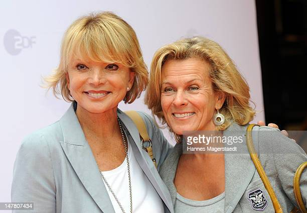 Actress Uschi Glas and Andrea L'Arronge attend the ZDF reception during the Munich Film Festival 2012 at the H'Ugo's on July 3 2012 in Munich Germany
