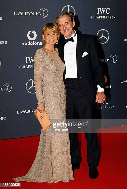Actress Uschi Glas and Dieter Hermann attend the 2012 Laureus World Sports Awards at Central Hall Westminster on February 6 2012 in London England