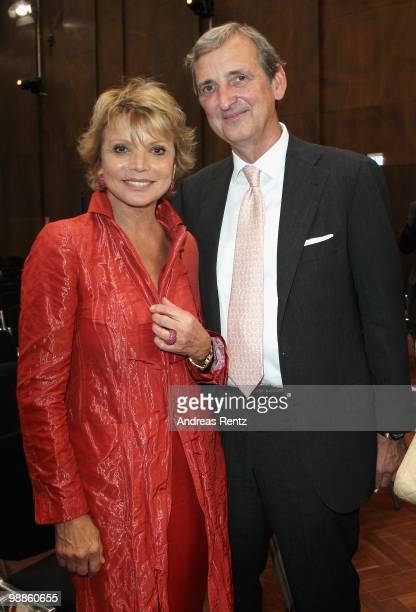 Actress Uschi Glas and her husband Dieter Hermann attend an official birthday reception to former German Chancellor Helmut Kohl at the Pfalzbau on...