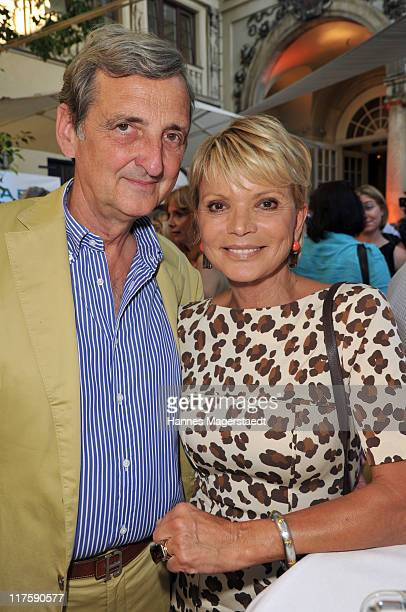 Actress Uschi Glas and her husband Dieter Hermann attend the 'Bavaria Reception' during the Munich Film Festival at the Kuenstlerhaus on June 28 2011...