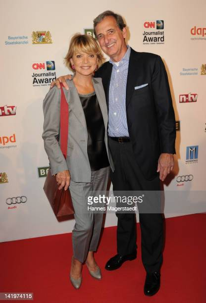 Actress Uschi Glas and her husband Dieter Hermann attend the CNN Journalist Award 2012 at the GOP Variete Theater on March 27 2012 in Munich Germany