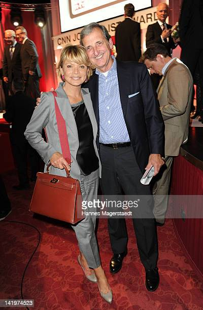 Actress Uschi Glas and her husband Dieter Hermann attend the CNN Journalist Award 2012 at the GOP Variete Theater on March 27, 2012 in Munich,...