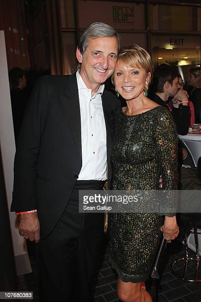 Actress Uschi Glas and her husband Dieter Hermann attend the 'Ein Herz Fuer Kinder' charity gala at Axel Springer Haus on December 18 2010 in Berlin...