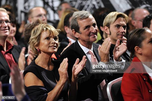 Actress Uschi Glas and her husband Dieter Hermann attend the 'Menschen In Europa' award ceremony at the Verlagsgruppe Passau on October 28 2009 in...
