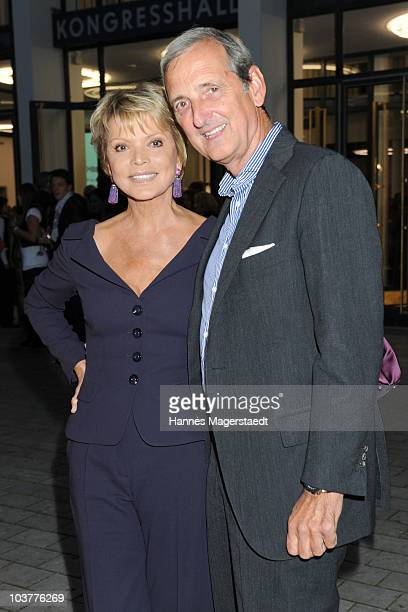 Actress Uschi Glas and her husband Dieter Hermann keep an eye on the Gabriele Blachnik atumn and winter 2010 / 2011 fashion collection at the Alte...