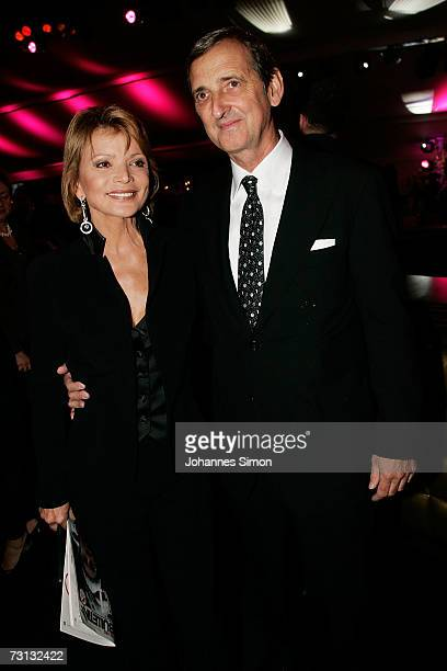 Actress Uschi Glas and her husband Dieter Hermannattend the Kitzrace Party January 27 in Kitzbuehel Austria