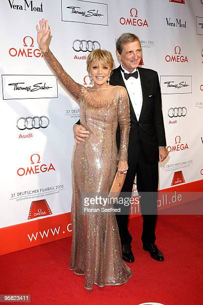 Actress Uschi Glas and husband Dieter Hermann attend the 37 th German Filmball 2010 at the Hotel Bayerischer Hof on January 16 2010 in Munich Germany