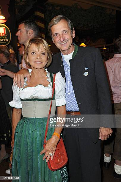 Actress Uschi Glas and husband Dieter Hermann attend the Oktoberfest beer festival at Hippodrom on September 22 2012 in Munich Germany