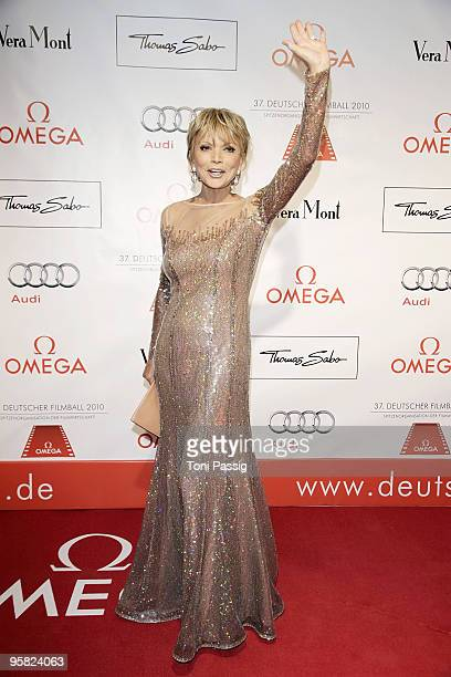Actress Uschi Glas attends the 37 th German Filmball 2010 at the hotel Bayrischer Hof on January 16 2010 in Munich Germany