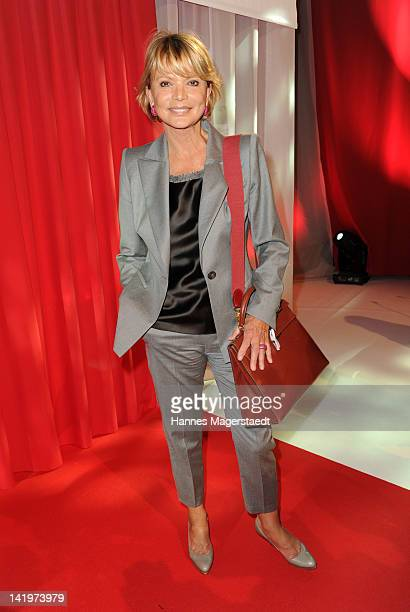 Actress Uschi Glas attends the CNN Journalist Award 2012 at the GOP Variete Theater on March 27, 2012 in Munich, Germany.