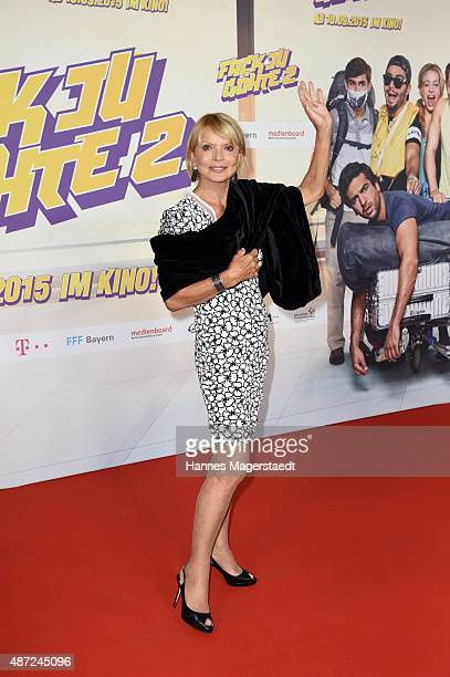 Actress Uschi Glas attends the 'Fack ju Goehte 2' Munich Premiere at Mathaeser Filmpalast on September 7 2015 in Munich Germany