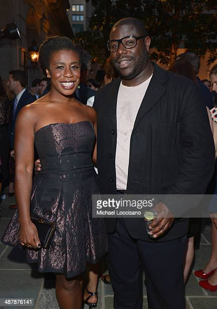 Actress Uzo Aduba and director Steve McQueen attend the PEOPLE/TIME WHCD cocktail party at St Regis Hotel Astor Terrace on May 2 2014 in Washington DC