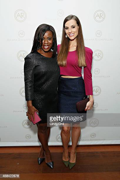 Actress Uzo Aduba and fashion designer Ariana Rockefeller attend the opening reception to celebrate Ariana Rockefeller Fall/Winter 2014 collection at...