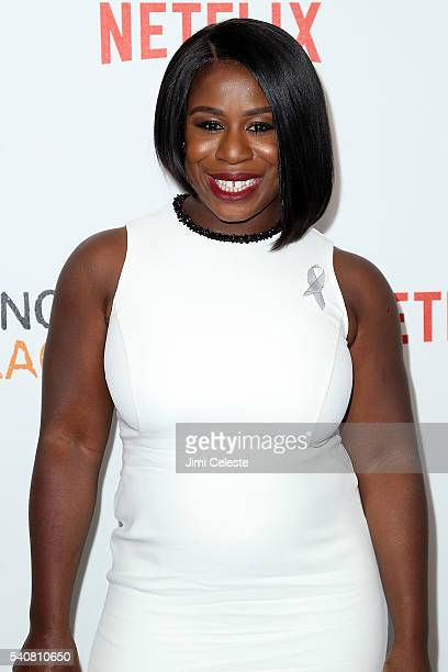 Actress Uzo Aduba attending the New York City Premiere Event for Season Four of Netflix's Orange is the New Black at SVA Theater on June 16 2016 in...