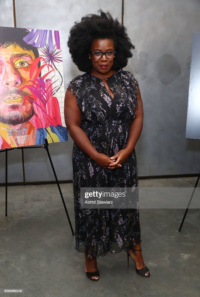 Actress Uzo Aduba attends Brad Walsh 'Antiglot' performance and album release party at Pier 59 Studios on October 5, 2017 in New York City.