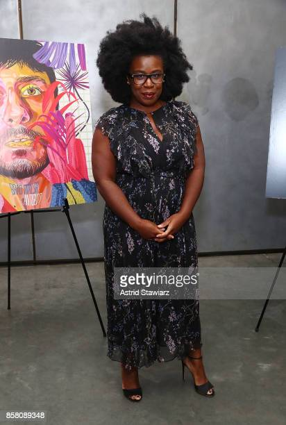 Actress Uzo Aduba attends Brad Walsh 'Antiglot' performance and album release party at Pier 59 Studios on October 5 2017 in New York City