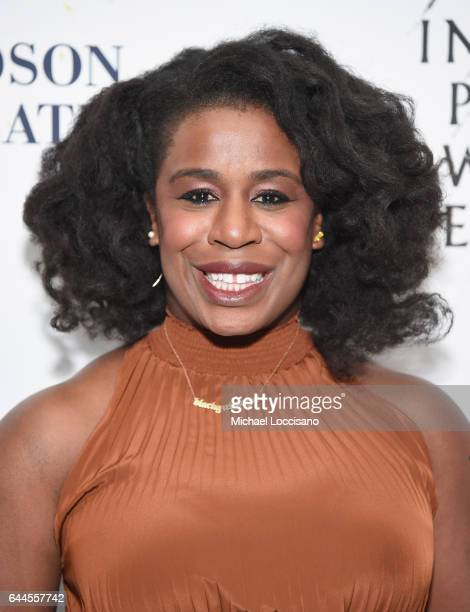 Actress Uzo Aduba attends 'Sunday In The Park With George' Broadway opening night at The Hudson Theatre on February 23 2017 in New York City