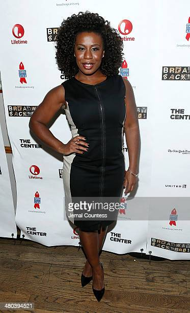 Actress Uzo Aduba attends the 2014 Broadway Backwards afterparty at John's on March 24, 2014 in New York City.