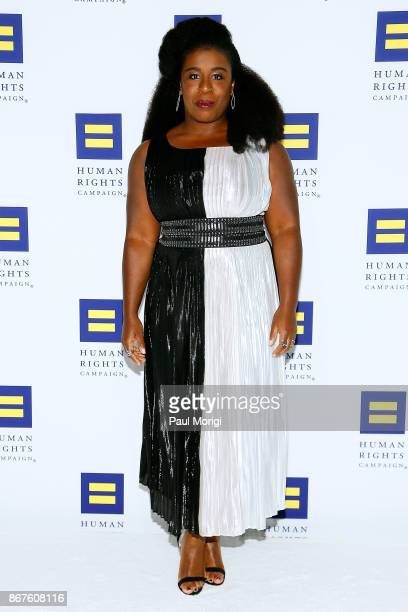 Actress Uzo Aduba attends the 21st Annual HRC National Dinner at the Washington Convention Center on October 28 2017 in Washington DC