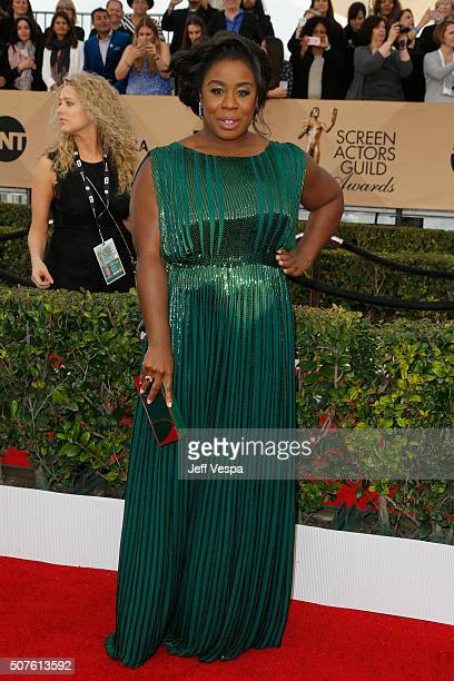 Actress Uzo Aduba attends the 22nd Annual Screen Actors Guild Awards at The Shrine Auditorium on January 30 2016 in Los Angeles California