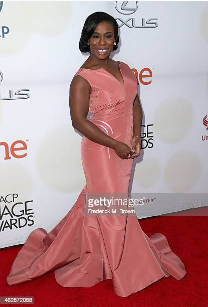 Actress Uzo Aduba attends the 46th NAACP Image Awards presented by TV One at Pasadena Civic Auditorium on February 6 2015 in Pasadena California