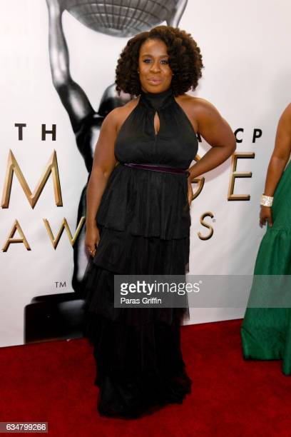 Actress Uzo Aduba attends the 48th NAACP Image Awards at Pasadena Civic Auditorium on February 11 2017 in Pasadena California