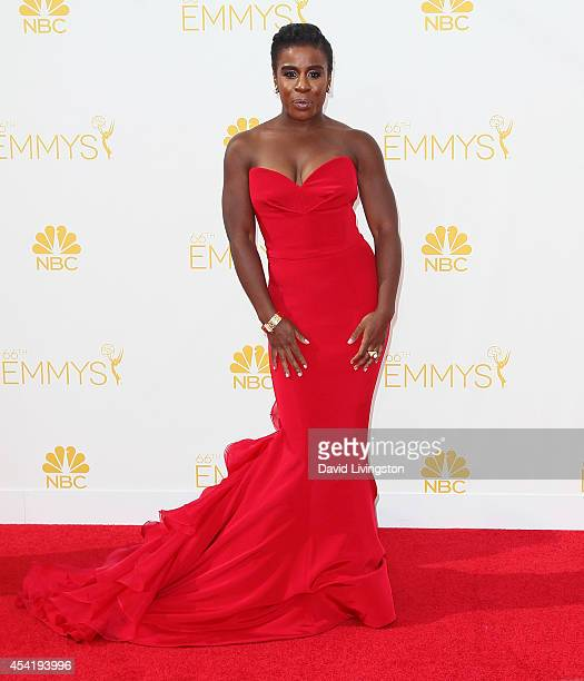 Actress Uzo Aduba attends the 66th Annual Primetime Emmy Awards at the Nokia Theatre L.A. Live on August 25, 2014 in Los Angeles, California.