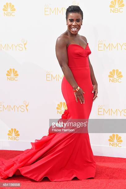 Actress Uzo Aduba attends the 66th Annual Primetime Emmy Awards held at Nokia Theatre L.A. Live on August 25, 2014 in Los Angeles, California.