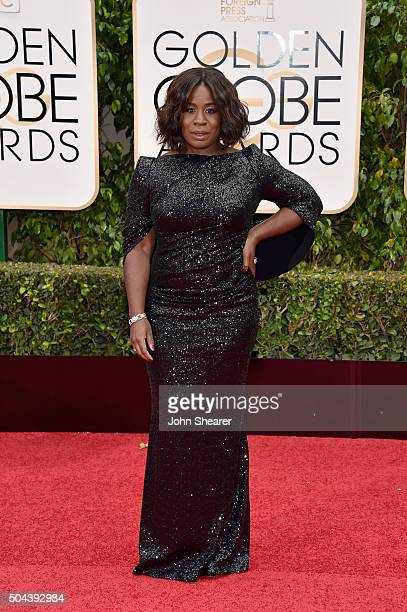 Actress Uzo Aduba attends the 73rd Annual Golden Globe Awards held at the Beverly Hilton Hotel on January 10 2016 in Beverly Hills California
