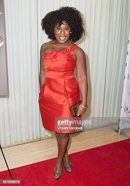 Actress Uzo Aduba attends the DuJour Magazine celebrates great performances issue featuring 12 Years A Slave Golden Globe Nominee Lupita Nyong'o at...