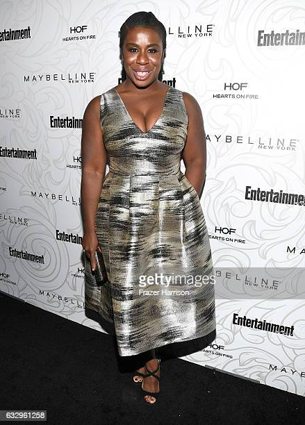Actress Uzo Aduba attends the Entertainment Weekly Celebration of SAG Award Nominees sponsored by Maybelline New York at Chateau Marmont on January...