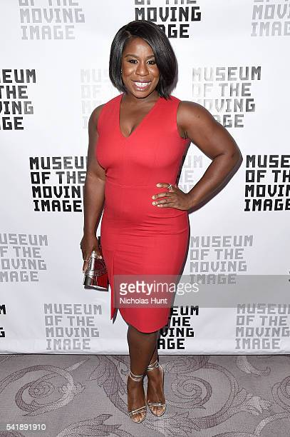 Actress Uzo Aduba attends the Museum of the Moving Image honoring Netflix Chief Content Officer Ted Sarandos and Seth Meyers at St Regis Hotel on...