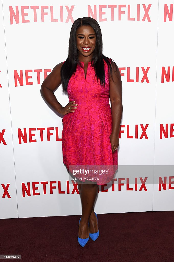 Actress Uzo Aduba attends the 'Orange Is The New Black' FYC screening at DGA Theater on August 11, 2015 in New York City.
