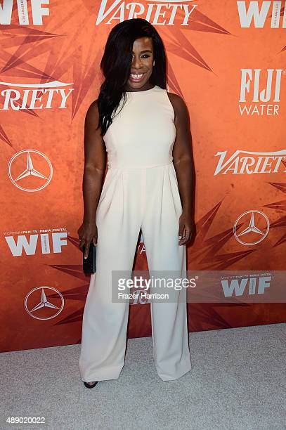 Actress Uzo Aduba attends the Variety and Women in Film Annual PreEmmy Celebration at Gracias Madre on September 18 2015 in West Hollywood California