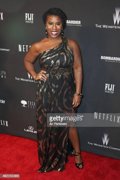 Actress Uzo Aduba attends The Weinstein Company Netflix's 2014 Golden Globes After Party presented by Bombardier FIJI Water Lexus Laura Mercier Marie...
