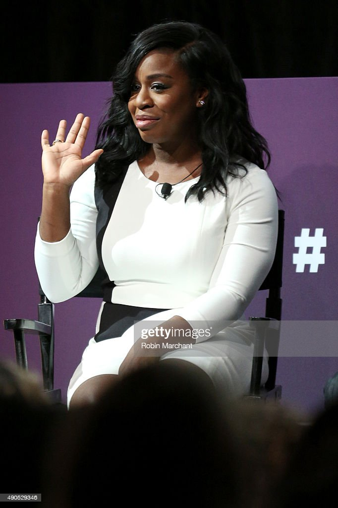 Actress Uzo Aduba speaks onstage at the A Diversity Revolution: How Non-Network Shows Are Shattering Mainstream Norms panel during Advertising Week 2015 AWXII at the Hard Rock Cafe New York on September 29, 2015 in New York City.